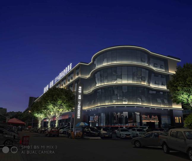 珠海曼哈顿曼骊度假酒店楼面灯光